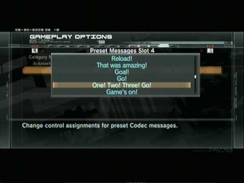 Metal Gear Online Voice B Codecs