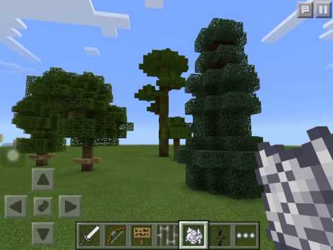 Minecraft P.E how to grow trees tall and big