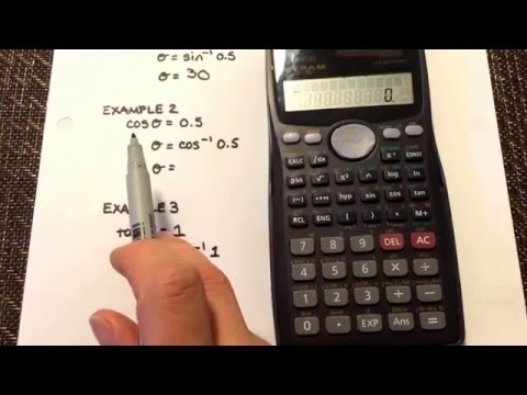 Trigonometry: Calculating the angle of a right triangle when given the ratio on your calculator