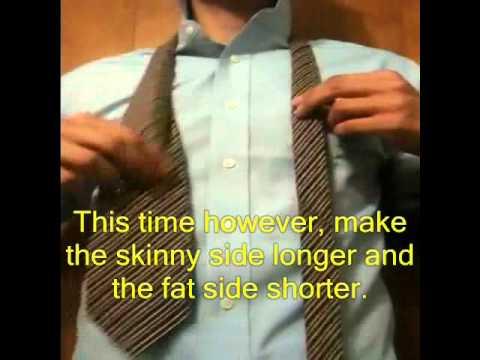 DIY HowTo make a skinny tie *NO SEWING