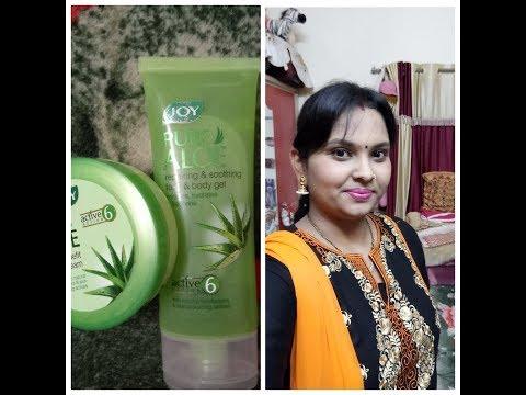 Benefits of aloevera 👍Reveiw of joy Aloevera gel and cream..||😊best for all skin type||