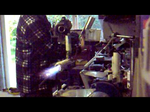 Testing Homemade Turbo Jet Engine Combustion Chamber