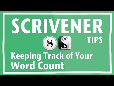 Keeping Track of your Scrivener Word Count for NaNoWriMo