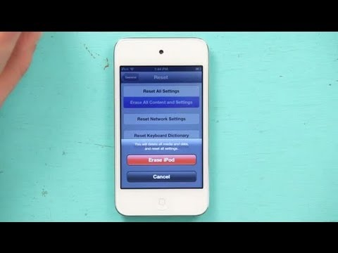 How to Change the Owner Settings on a Used iPod : iPod Touch