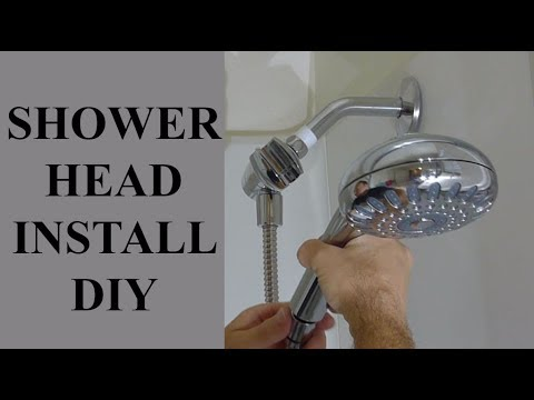WWW.DDC-DIY.COM  How To Install A New Replacement Shower Head - Hand Held Adjustable Sprayer