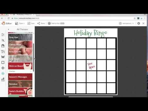 DIY Holiday Bingo Printable