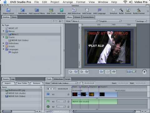 DVD Studio Pro Tutorial |101 | Basic Menus