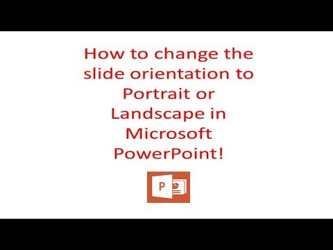 How to QUICKLY change your Powerpoint Slide Orientation to Portrait or Landscape! 2018!