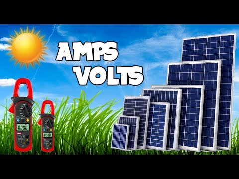 How to check amperes and voltages of solar panels || 300 Watts Solar Panel.