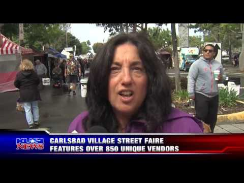 KUSI Covers the Carlsbad Village Faire Hosted by the Carlsbad Chamber of Commerce
