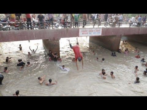Open Bath Lahore Canal 2018