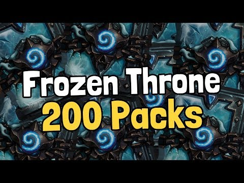 Opening 200 Frozen Throne Packs - Hearthstone
