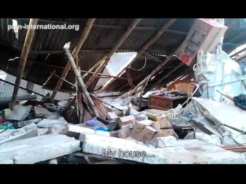 Live reaction to home destroyed by Ecuador earthquake