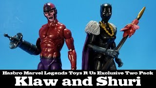 Marvel Legends Klaw and Shuri Toys R Us Two Pack Hasbro Review