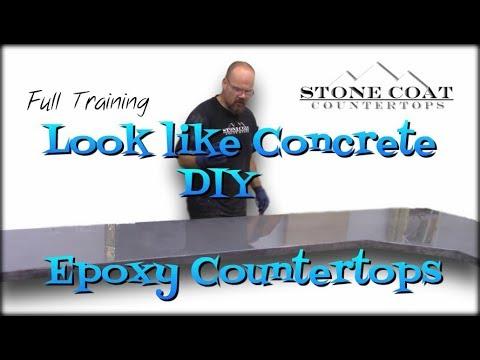 Look like Concrete, DIY Epoxy Countertops
