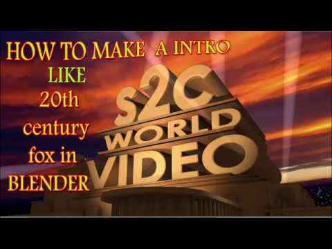 how to make intro like 20 century fox in blender