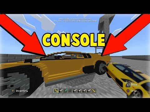 Minecraft Console/PE/Windows 10 Lamborghini Mod Download l Working Cars in Minecraft Console l