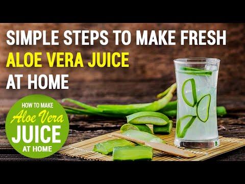 Simple steps to make fresh aloe vera juice at home.
