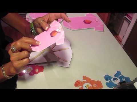 Baby Onesie Centerpiece and Invites part 2