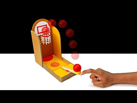How To Make Simple Basketball Desktop Game From Cardboard