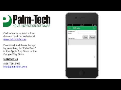 Palm-Tech 7: Collecting Electronic Signatures with the App