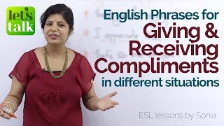 Learn English Online - Giving and receiving compliments in – Free English Lesson for beginners.