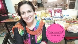 Weekly Grocery Haul 2016 - Pakistani Mom - Healthy Meals on a Budget