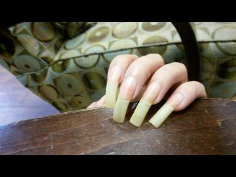 Showing bare natural nails