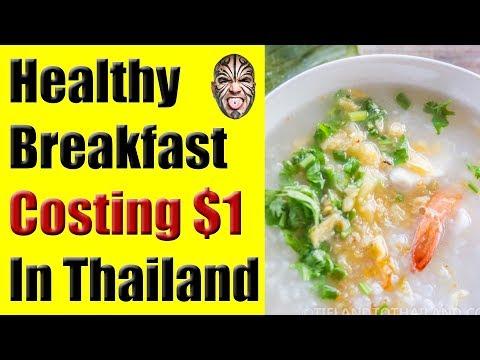 Healthy Breakfast Costing USD $1 in Koh Samui, Thailand