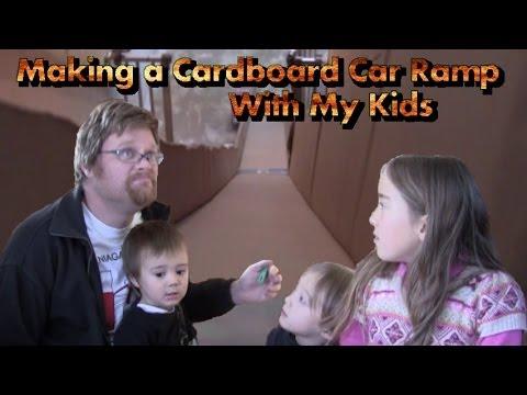 Making a Cardboard Car Ramp With My Kids