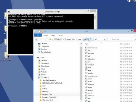 Setting Java Path in Windows 8.1