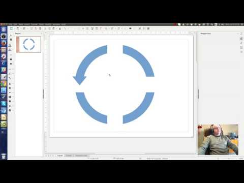 How to make circular arrows in LibreOffice Draw