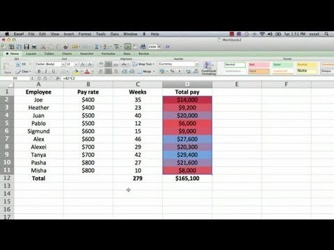 How to Make a Cell Turn a Color in a Formula in Excel : Using Microsoft Excel