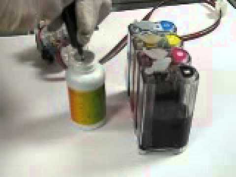 how to refill ink for continuous ink system or ciss cis