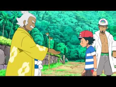 Ash receives Electrium Z on Tapu Koko //Pokémon Sun and Moon [English Dub]