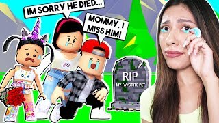 TELLING MY SON HIS PET is DEAD! *HE CRIED* Roblox - Adopt Me