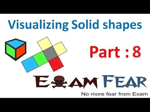 Maths Visualizing Solid Shapes part 8 (Building 3d Shapes) CBSE Class 7  Mathematics VII