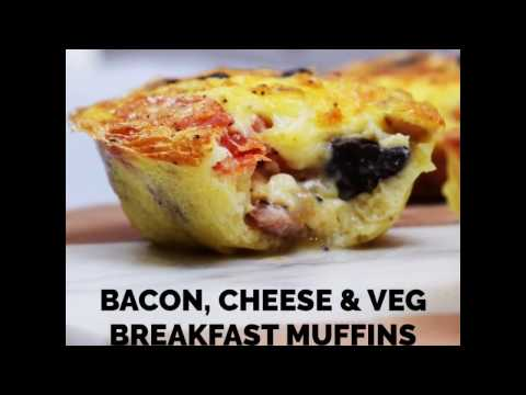 Make Ahead Bacon, Cheese & Egg Breakfast Muffins - Gluten Free, Low Carb, Syn Free on Slimming World