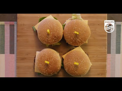 How to Make Juicy and Tender Burgers on the Philips Smokeless Grill   HD6371/94