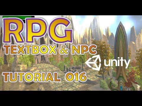 How To Make An RPG In Unity - Beginners Tutorial - Part 016 - NPCs, AI & Textboxes