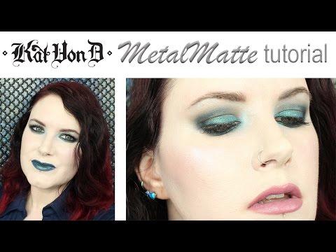 Kat Von D MetalMatte Teal Tutorial for Hooded Eyes @phyrra