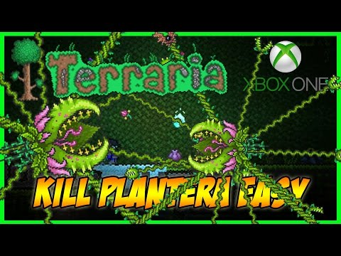 Terraria - How To Kill Plantera Easily Without Good Weapons or Armour (TERRARIA 1.3 TIPS/TRICKS)