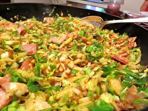 Shredded Brussel Sprouts with Bacon