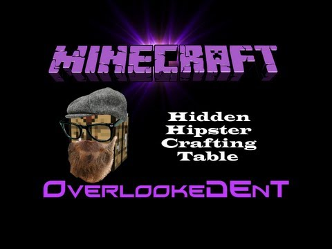 Hidden Hipster Crafting Table (Redstone Torch Key) - Minecraft Xbox 360/PS3 - [Tutorial]