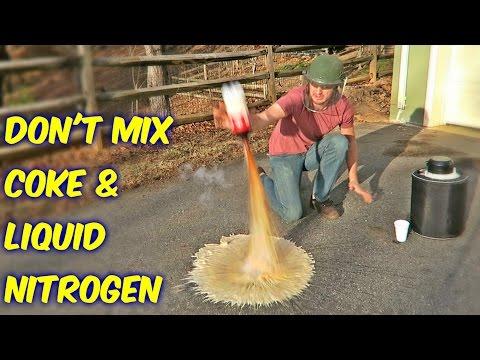 Don't Mix Coke with Liquid Nitrogen!