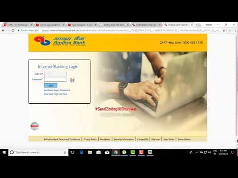 HOW TO REGISTER ANDHRA BANK NET BANKING OR MOBILE BANKING PROCEDURE 1 2018