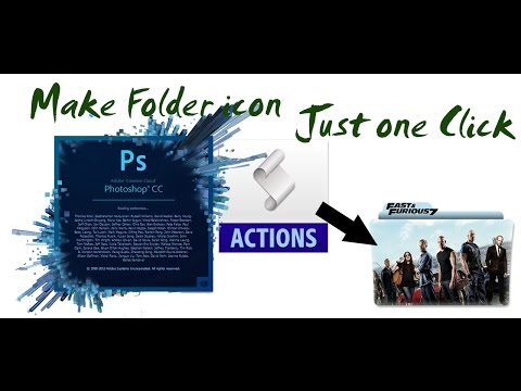 Make Folder icon just for one click using Photoshop Actions