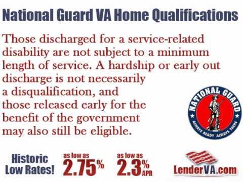 National Guard VA Home Qualifications