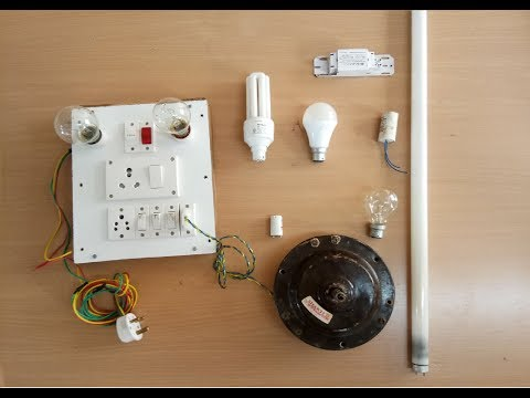 How to check Tube Light, Choke, Starter, Capacitor, CFL, Bulb, by using Series Test|||parallel test