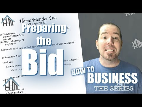 How to Estimate a job, create bid, prepare estimate! Easy!